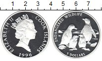 Изображение Монеты Острова Кука 5 долларов 1996 Серебро Proof- Сохранение животного