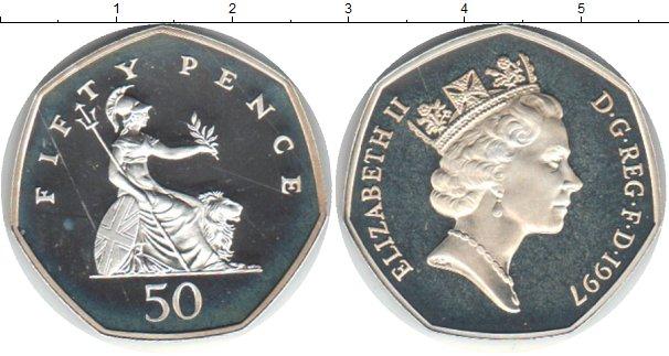 Картинка Монеты Великобритания 50 пенсов Медно-никель 1997