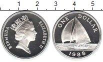 Изображение Монеты Бермудские острова 1 доллар 1988 Серебро Proof-