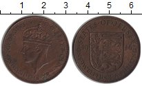 Изображение Монеты Остров Джерси 1/12 шиллинга 1946 Медь XF