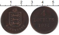Изображение Монеты Великобритания Гернси 4 дубля 1914 Медь VF