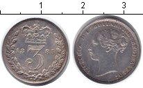 Изображение Монеты Великобритания 3 пенса 1885 Серебро XF Виктория