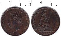 Изображение Монеты Великобритания 1 пенни 1826 Медь XF