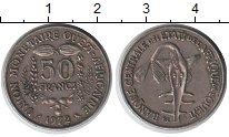 Изображение Монеты Западно-Африканский Союз 50 франков 1972 Медно-никель XF