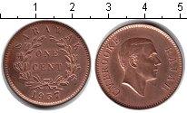 Изображение Монеты Саравак 1 цент 1937 Медь UNC-