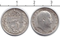 Изображение Монеты Великобритания 3 пенса 1910 Серебро XF