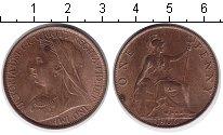Изображение Монеты Великобритания 1 пенни 1900 Медь XF Виктория.
