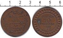 Изображение Монеты Тунис 10 сантим 1916 Медь XF Французский протекто