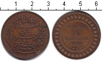 Изображение Монеты Тунис 10 сантим 1917 Медь XF