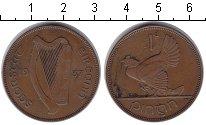 Изображение Монеты Ирландия 1 пенни 1937 Медь XF Курица с цыплятами