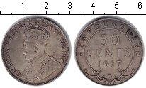 Изображение Монеты Ньюфаундленд 50 центов 1917 Серебро XF Георг V