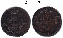 Изображение Монеты Саксен-Веймар-Эйзенах 2 пфеннига 1760 Медь VF