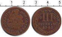Изображение Монеты Мюнстер 3 пфеннига 1748 Медь VF