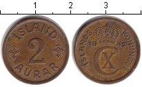 Изображение Монеты Исландия 2 аурар 1942 Медь XF