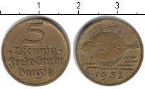 Изображение Монеты Данциг 5 пфеннигов 1932 Медь XF