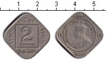 Изображение Монеты Индия 2 анны 1926 Медно-никель XF