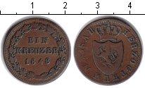 Изображение Монеты Нассау 1 крейцер 1848 Медь XF