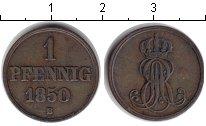 Изображение Монеты Ганновер 1 пфенниг 1850 Медь XF