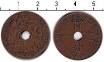 Изображение Монеты Индокитай 1 цент 1910 Медь XF