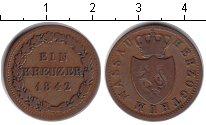 Изображение Монеты Нассау 1 крейцер 1842 Медь VF