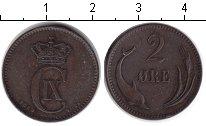 Изображение Монеты Дания 2 эре 1883 Медь XF Кристиан IX.