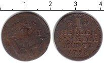 Изображение Монеты Гессен-Кассель 1 хеллер 1758 Медь VF