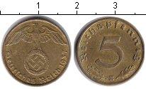 Изображение Монеты Третий Рейх 5 пфеннигов 1937 Медь XF