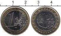 Изображение Мелочь Монако 1 евро 2001 Биметалл UNC-