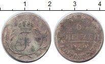 Изображение Монеты Саксен-Хильдбургхаузен 6 крейцеров 1820 Серебро VF