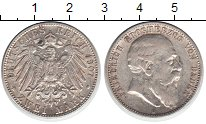 Изображение Монеты Баден 2 марки 1907 Серебро VF
