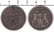 Изображение Монеты Гамбург 2 марки 1878 Серебро VF