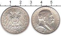 Изображение Монеты Баден 2 марки 1902 Серебро UNC-