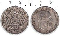 Изображение Монеты Вюртемберг 2 марки 1902 Серебро VF Вильгельм II
