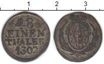 Изображение Монеты Саксония 1/48 талера 1802 Серебро VF
