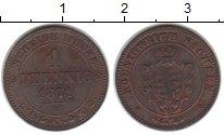 Изображение Монеты Саксония 1 пфенниг 1871 Медь XF