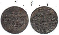 Изображение Монеты Саксония 1/48 талера 1779 Серебро VF