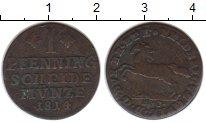 Изображение Монеты Брауншвайг-Вольфенбюттель 1 пфенниг 1814 Медь VF
