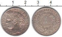 Изображение Монеты Франция 1 франк 1849 Серебро XF