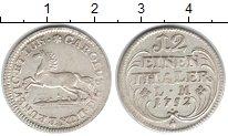 Изображение Монеты Брауншвайг-Люнебург 1/12 талера 1752 Серебро