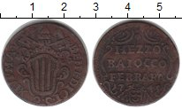 Изображение Монеты Ватикан 1/2 байочче 1745 Медь