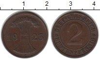 Изображение Монеты Веймарская республика 2 пфеннига 1923 Медь XF