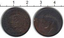 Изображение Монеты Западная Африка 3 пенса 1938 Медно-никель VF Георг VI
