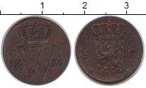 Изображение Монеты Нидерланды 1/2 цента 1876 Медь XF