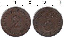 Изображение Монеты Третий Рейх 2 пфеннига 1938 Медь XF