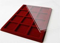 Изображение Аксессуары для монет Другие Пластиковый планшет на 12 ячеек (60х60х18мм) 0   Внешний размер планш