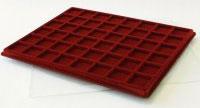 Изображение Аксессуары для монет Другие Пластиковый планшет на 48 ячеек (30х30х5мм) 0   Внешний размер планш