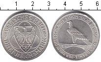 Изображение Монеты Веймарская республика 3 марки 1930 Серебро XF Рейн-немецкая река,а