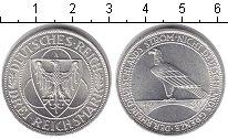 Изображение Монеты Веймарская республика 3 марки 1930 Серебро UNC- Рейн-немецкая река,а