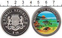 Изображение Монеты Сомали 10 долларов 1998 Медно-никель Proof- Защита морских обита
