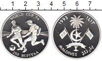 Изображение Монеты Мальдивы 250 руфий 1993 Серебро Proof- Чемпионат мира по фу